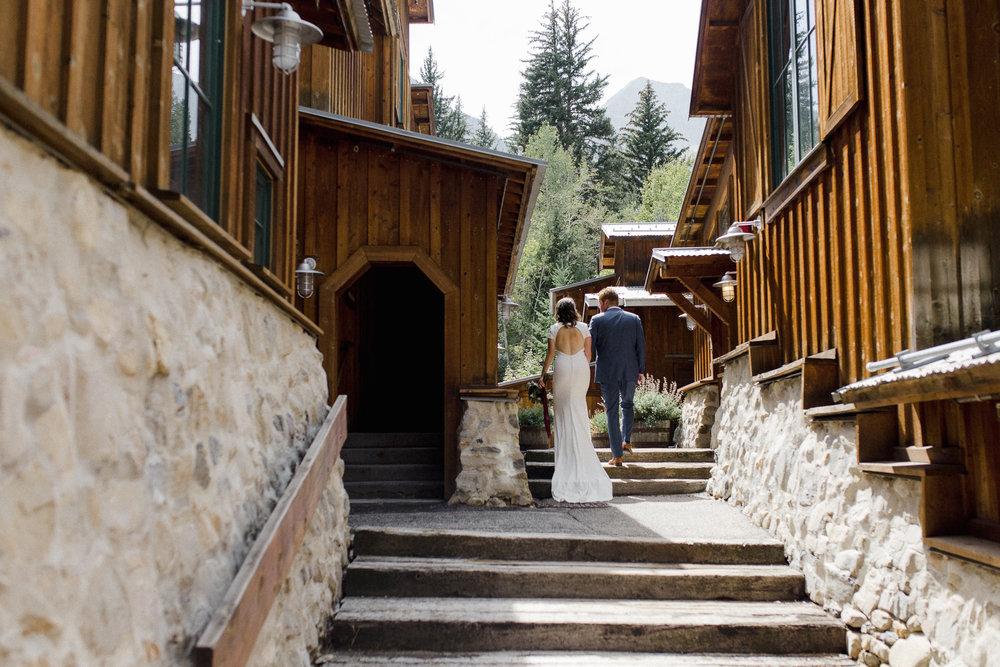Bride and Groom at Sundance Resort.
