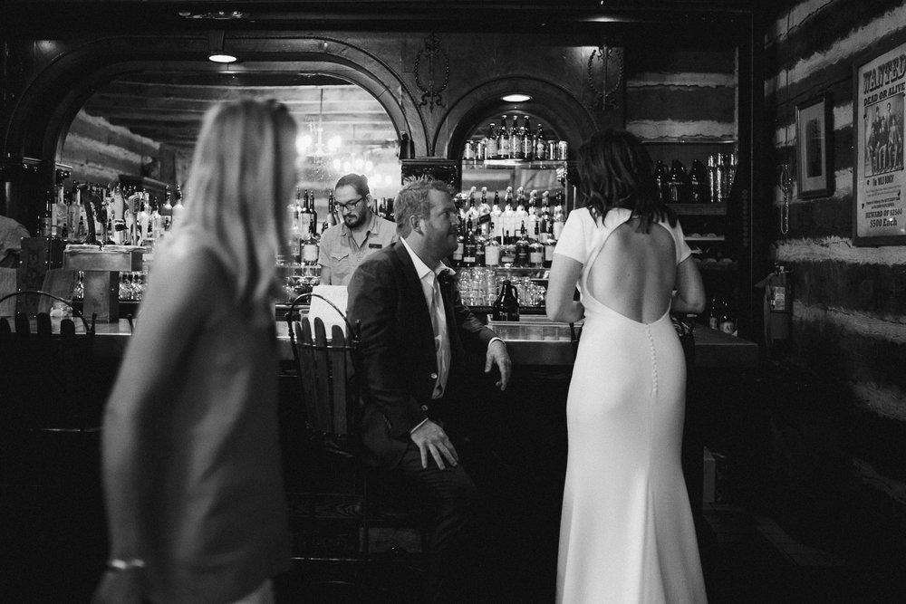 Bride and Groom at Sundance Resort Bar.
