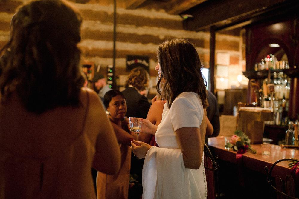 Bride at Bar.