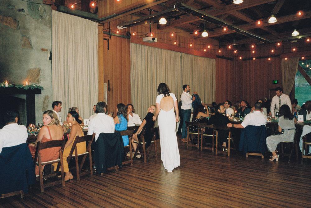 Bride at Wedding Reception.