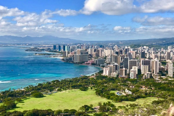 While visiting Waikiki, journalist Keith Zhu climbed the Diamond Head Volcano.