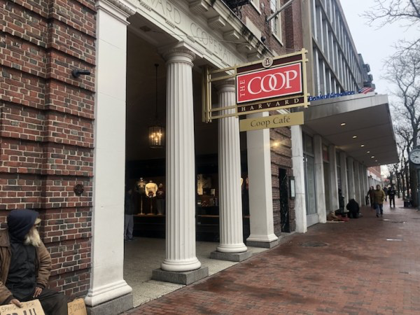 Coop Book Store is Zhu's favorite place to have coffee on the Harvard campus.