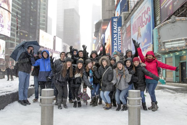 While Feather students attend three day of sessions at conferences at Columbia University each year at the CSPA convention, they always take time to take in the sights of the city, including the blizzard of March 2017.