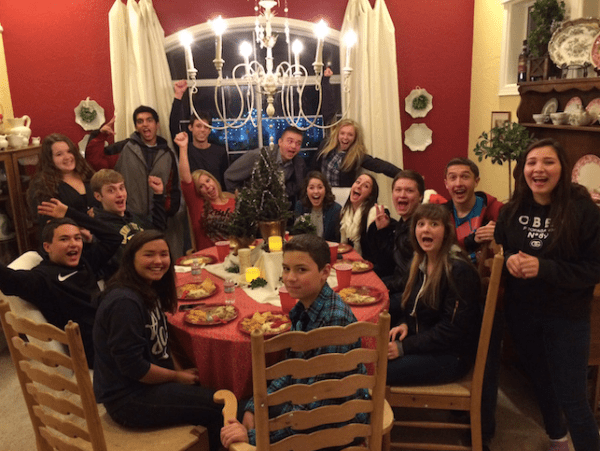 For years The Feather staff holds a Christmas party and many of those have been at adviser Greg Stobbe's home on Cindy Lane in Clovis, including this 2014 version. Not only does the staff enjoy dinner but exchange gifts and walk the brightly lit streets.