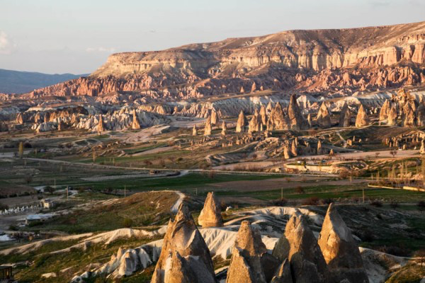 Erosion shaped these incredible landscapes of cones, pillars, pinnacles, mushrooms, and chimneys located inside of the Goreme Valley of Cappadocia.
