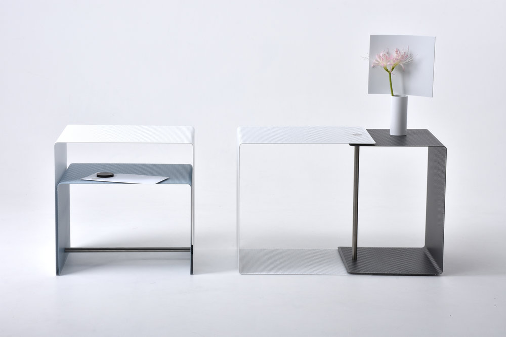 Layer side table designed by Shinya Oguchi