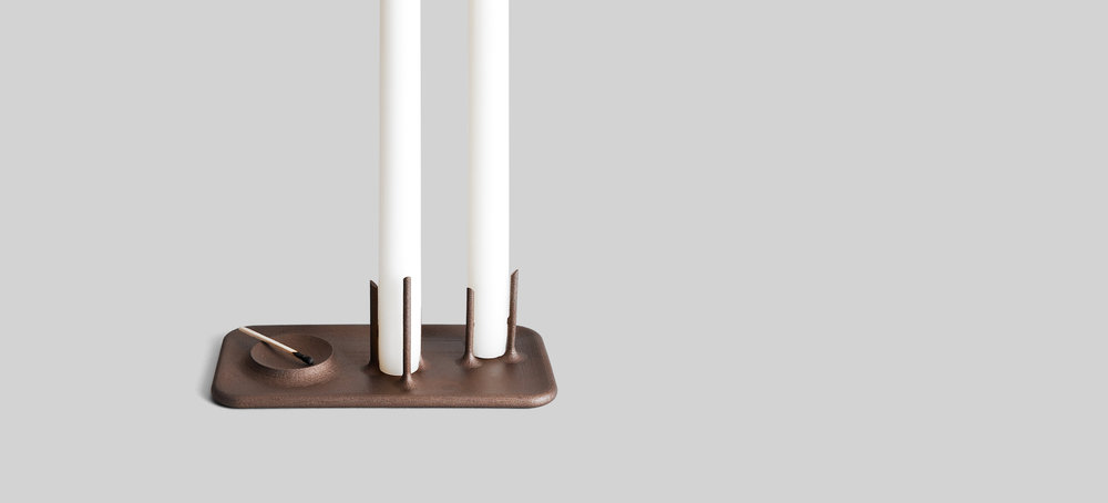 Trois Candleholders designed by Brad Ascalon for Othr