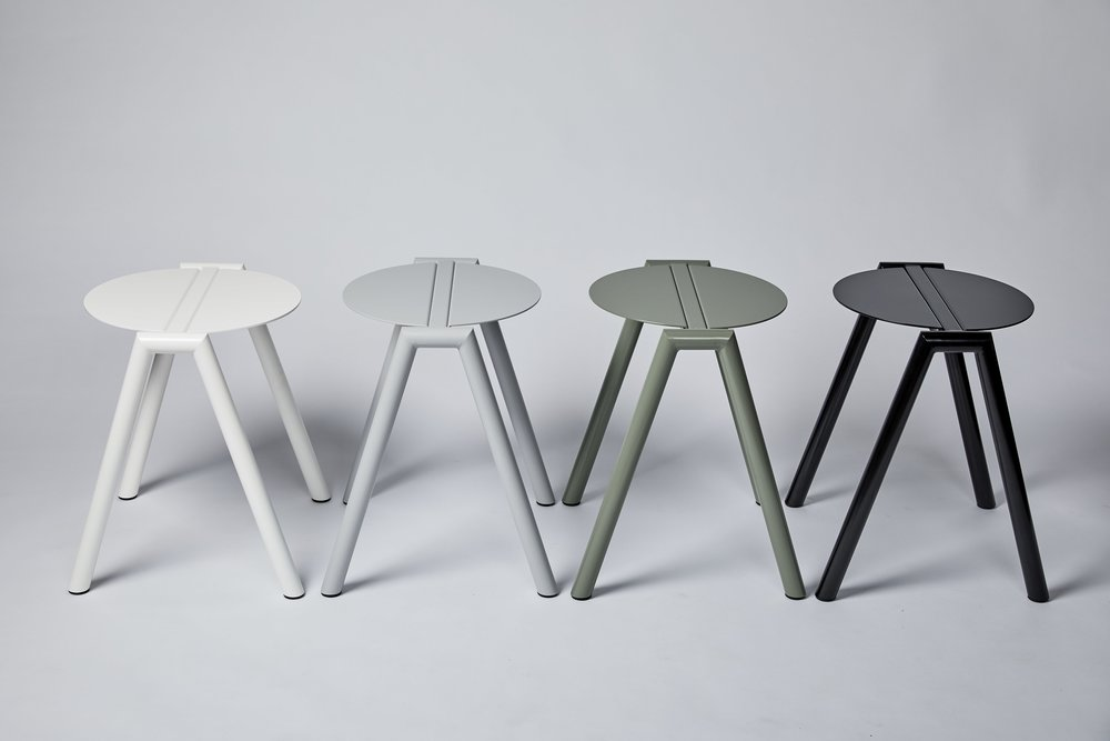 High & Low Stance Stool designed by Furnished Forever