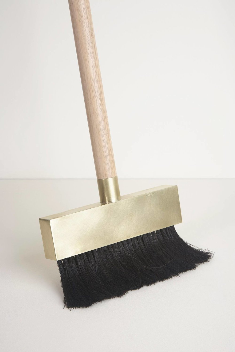Brass Dustpan and Broom designed by Studiokyss