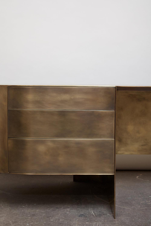 Custom Brass Desk designed by Brian Thoreen