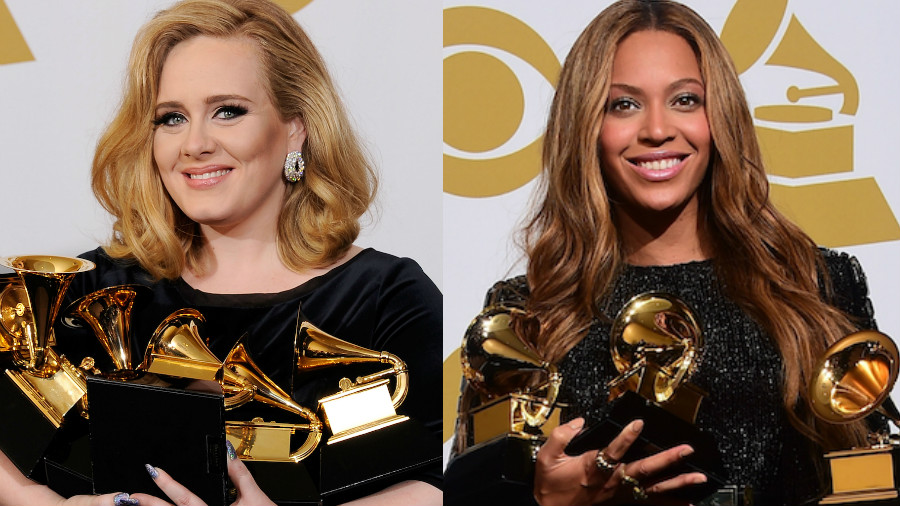 Adele's '25' vs. Beyonce's 'Lemonade' picture taken from gettyimages.com