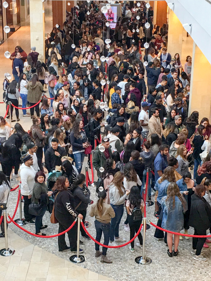 Fans wait in line for Kylie Jenner Merch