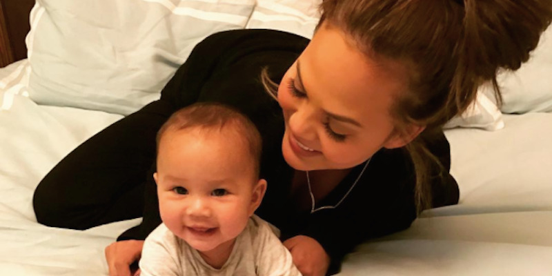 Picture from Chrissy Teigen Instagram with daughter Luna Stephens