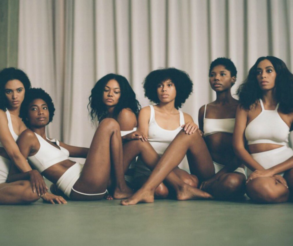 Solange and her dancers in music video 'Cranes in The Sky'