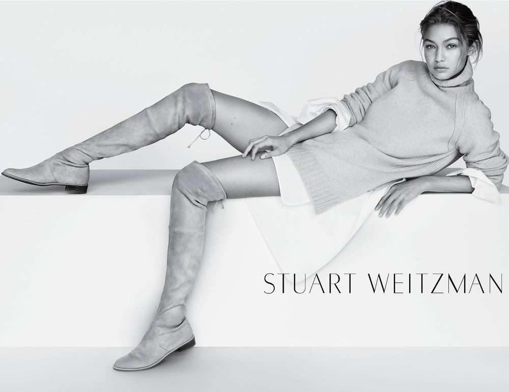 Gigi Hadid for Stuart Weitzman shot by Mario Testino