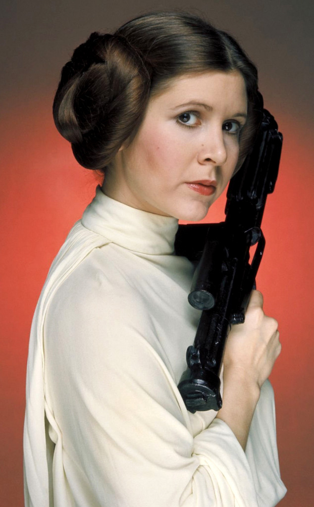 Carrie Fisher as Princess Leia Organa in Star Wars, photo taken from dailymail.co.uk