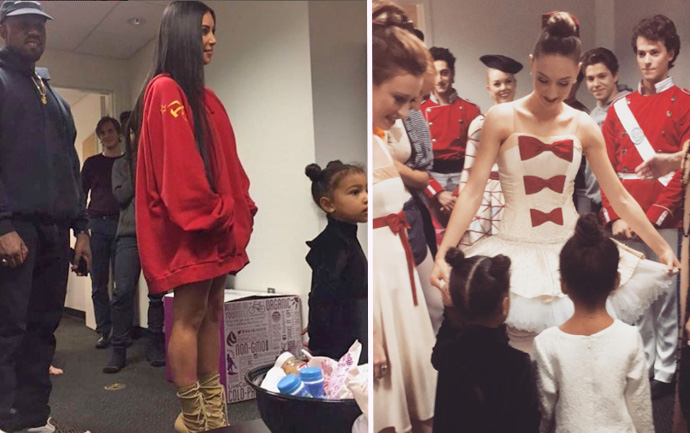 Kim Kardashian West attends the Ballet in LA, photo taken from Instagram