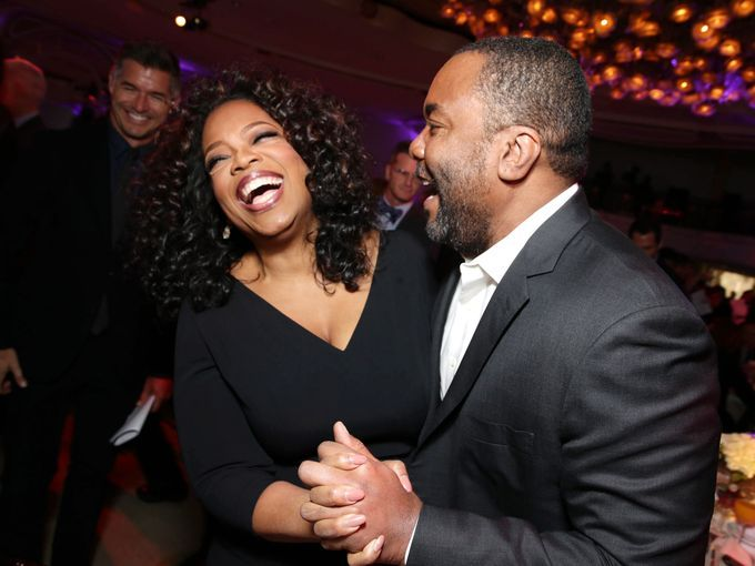Photo of Oprah and Lee Daniels taken from USAtoday.com