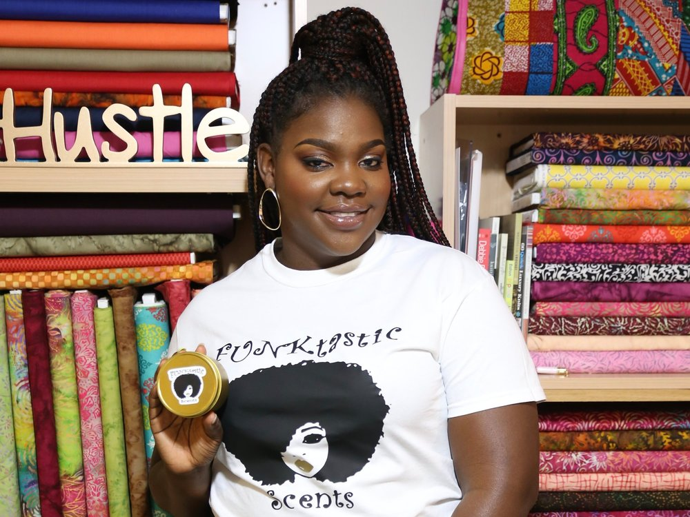Maisha Mitchell - Read about a woman who created her own handcrafted candles in only two years!Click on 'Learn More' to read her full interview!