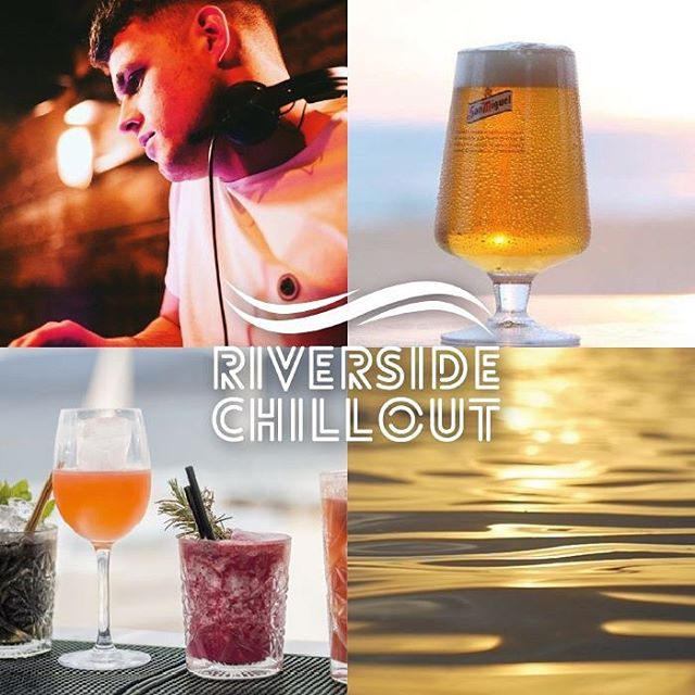 Epic first day of our #RiversideChillout! Continues with great weather Thursday 19th with #Ibiza lounge tunes from @bassduckfresh, great food and 2 for £10 cocktails! DJ 5-11pm. Perfect after work party 🍸🍽🍻☀️