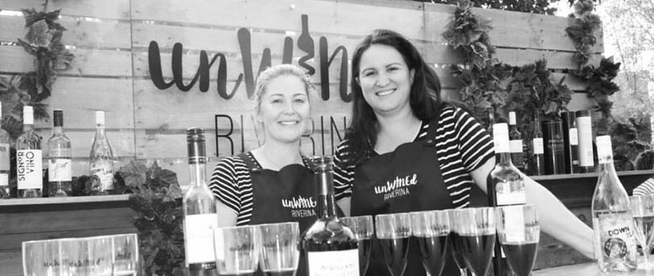 L-R: Laura and Carrah, promoting unWINEd Riverina at the filming of the Today Show in 2017