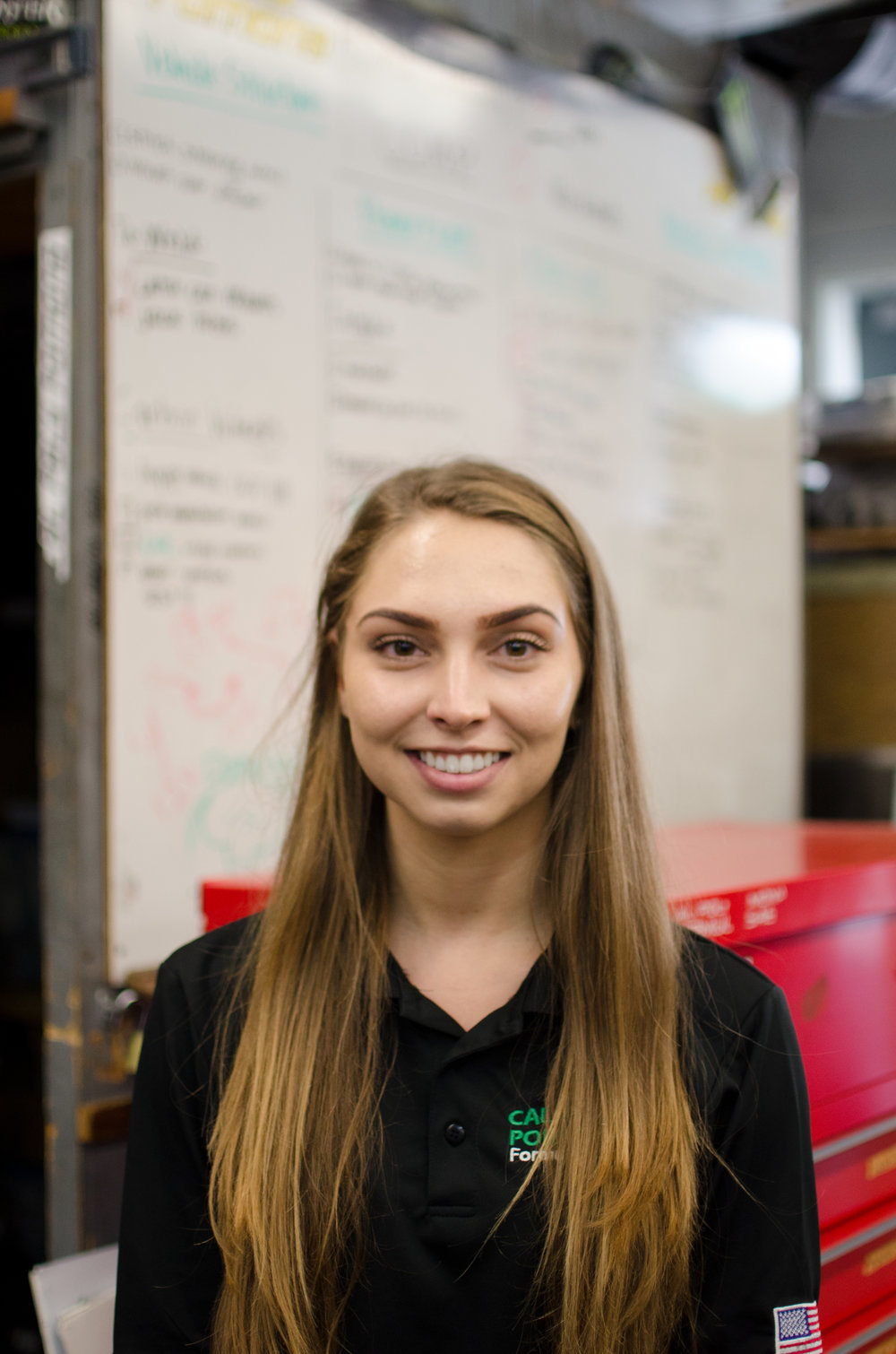 Jenna Kadlec - Headers/Muffler Captain jmkadlec@cpp.edu