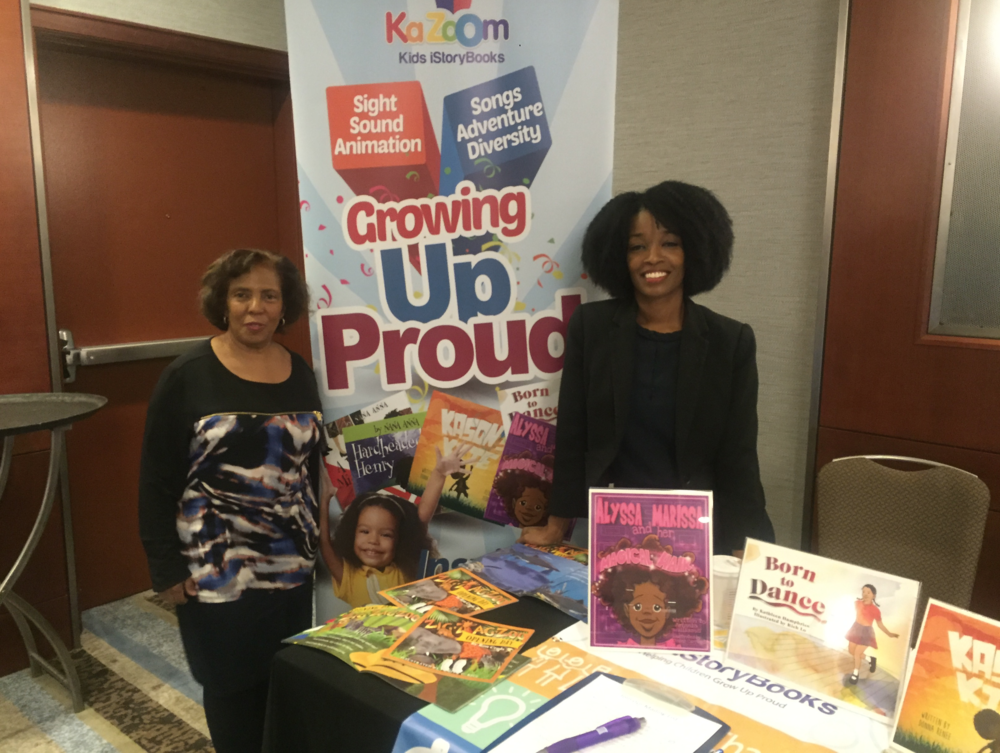 Donna Beasley, CEO of KaZoom Kids Books pictured with Angela Williams