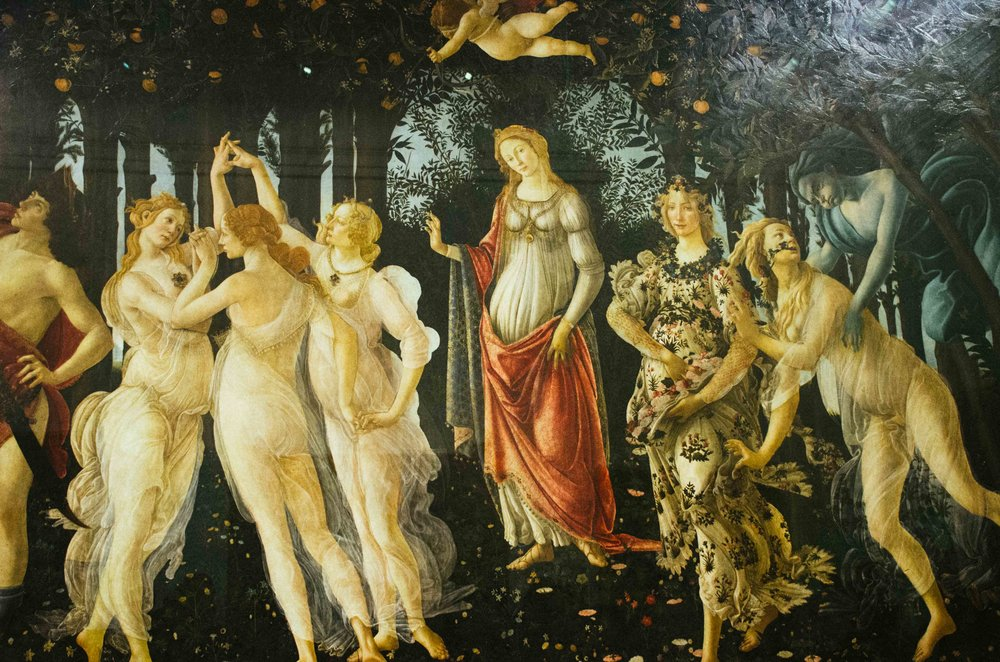 Photography of Botticelli's  Primavera  by Liana Carbone.