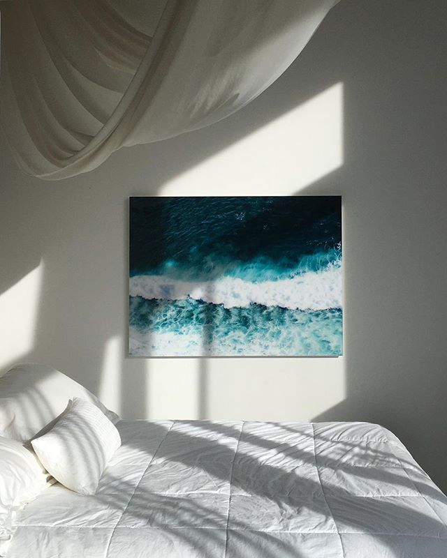 Wave swoon 🌊 loving lazy Sunday mornings with our Bali Blue print by @lianacarbonephoto ✨ . . . . . . #wave #print #artphoto #wallart #design #interiors #designlovefest #bohochic #bali