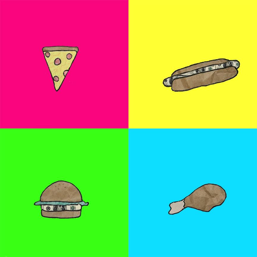 (2015) pencil/digital - food square
