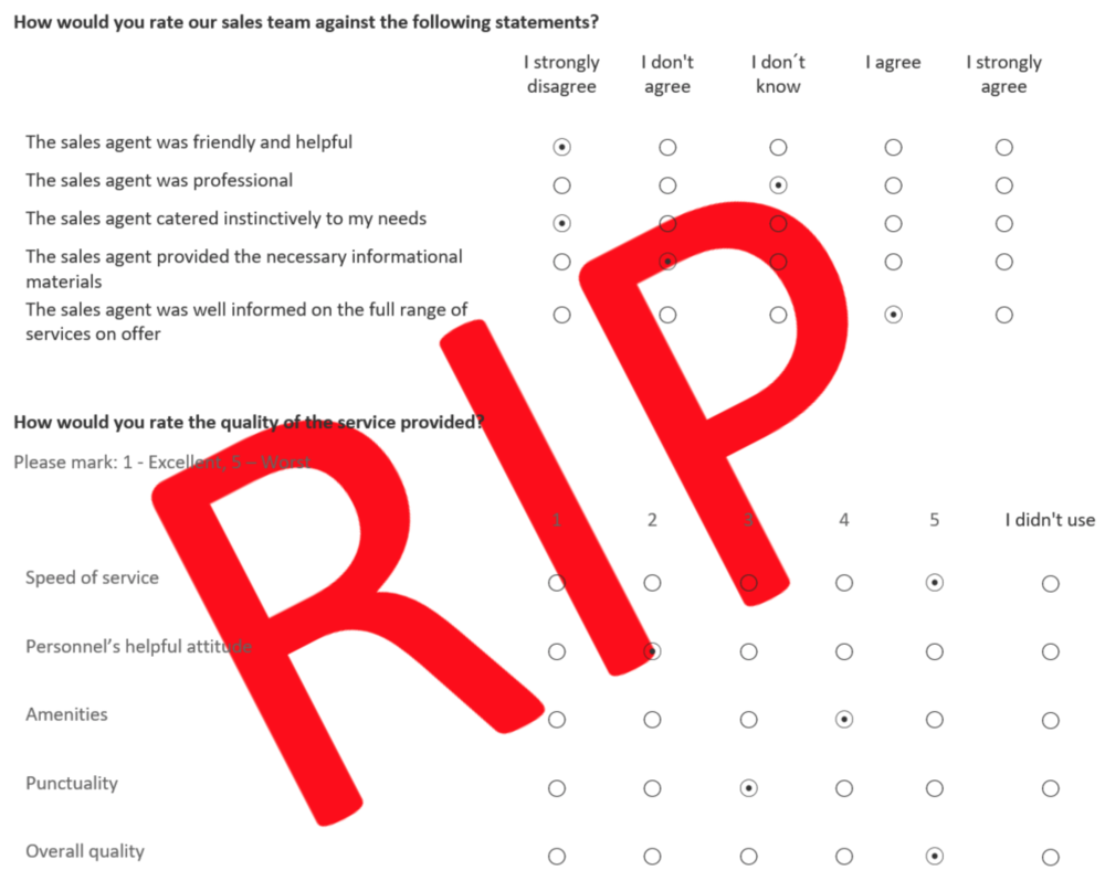 customer surveys are dead