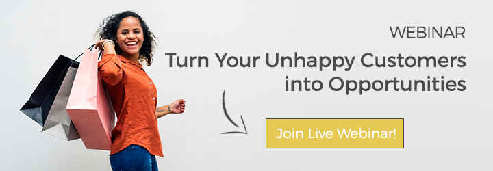 Webinar Turn Your Unhappy Customers into Opportunities