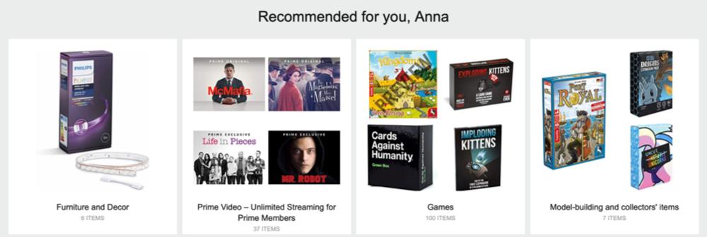 Amazon Personalized Customer Experience