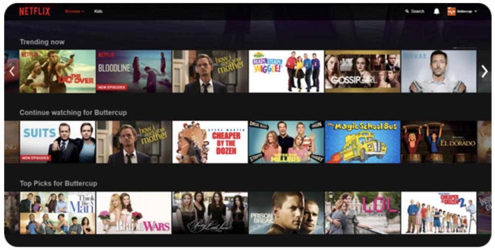 Netflix Personalized Customer Experience