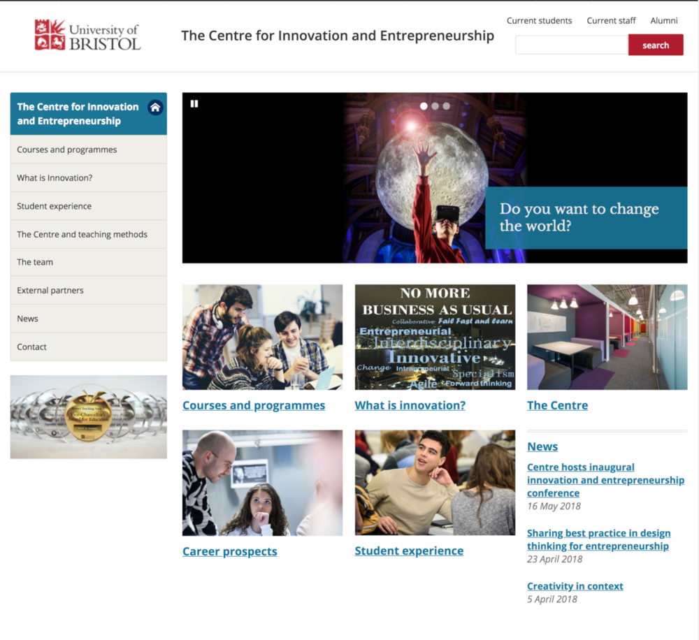 Centre of Innovation and Entrepereneurship
