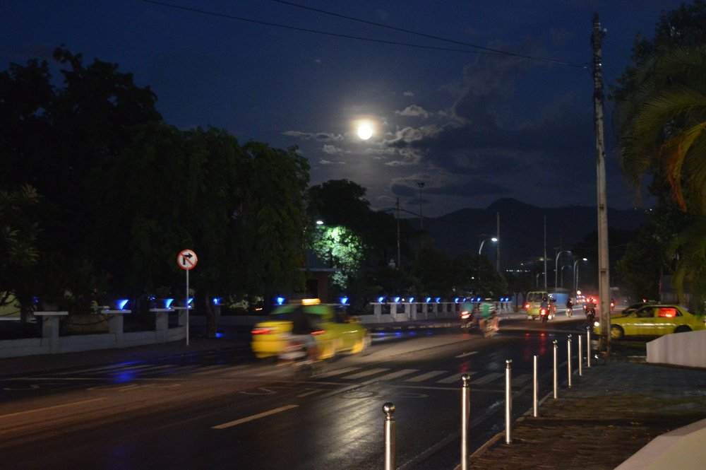 Supermoon in Dili, East Timor
