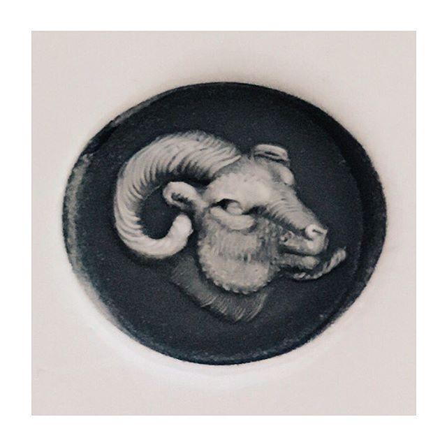Wax impression from my ram's head ring! • • #rebus #rebussignetrings #signet #signetring #signetrings #ram #ramshead #aries #9ct #gold #ring #heirloom #showmeyourrings #handmade #bespoke