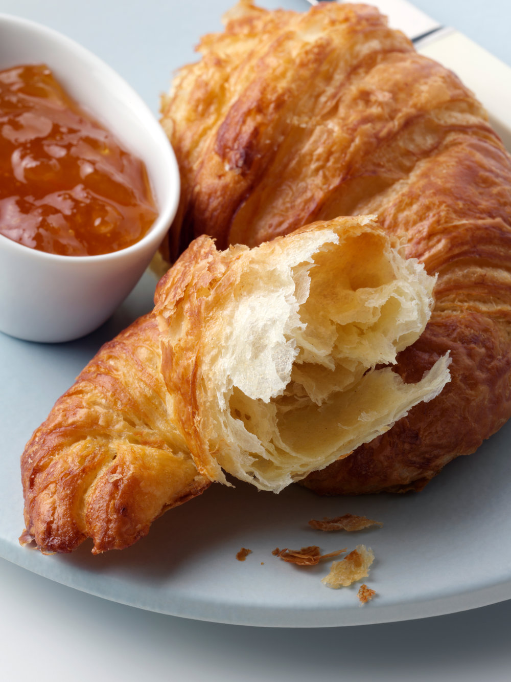 Croissant and confiture