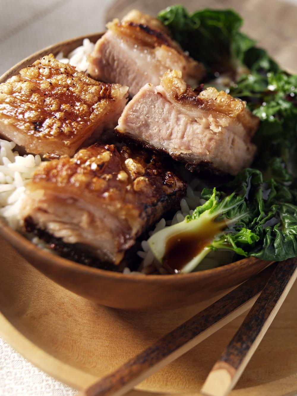Crispy Chinese pork belly