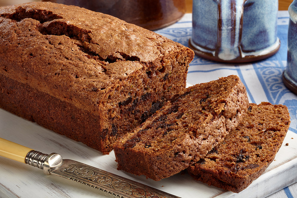 Chocolate brownie zucchini bread