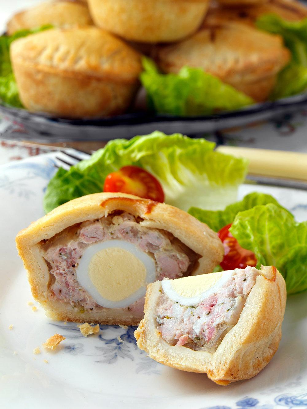 Homemade pork pies