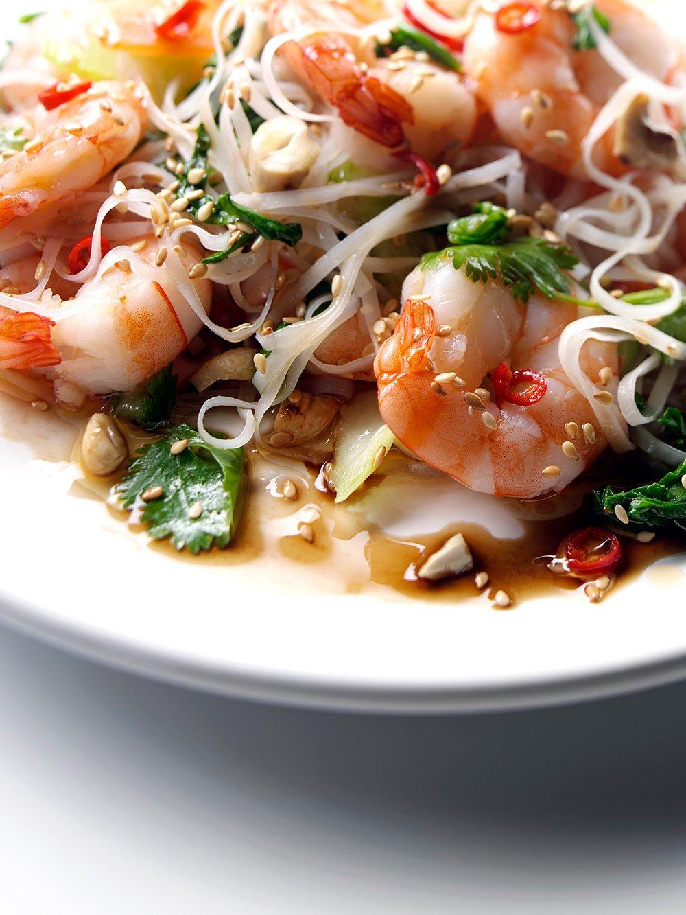 Tiger prawn Thai salad