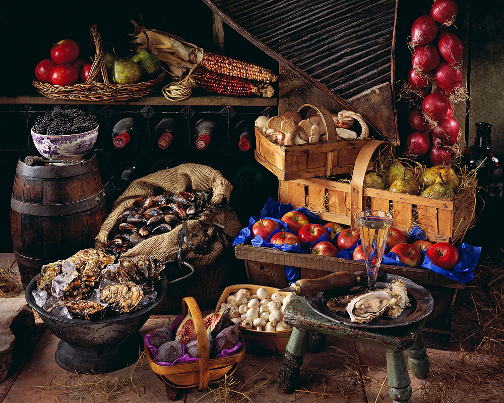 Autumn produce in storeroom