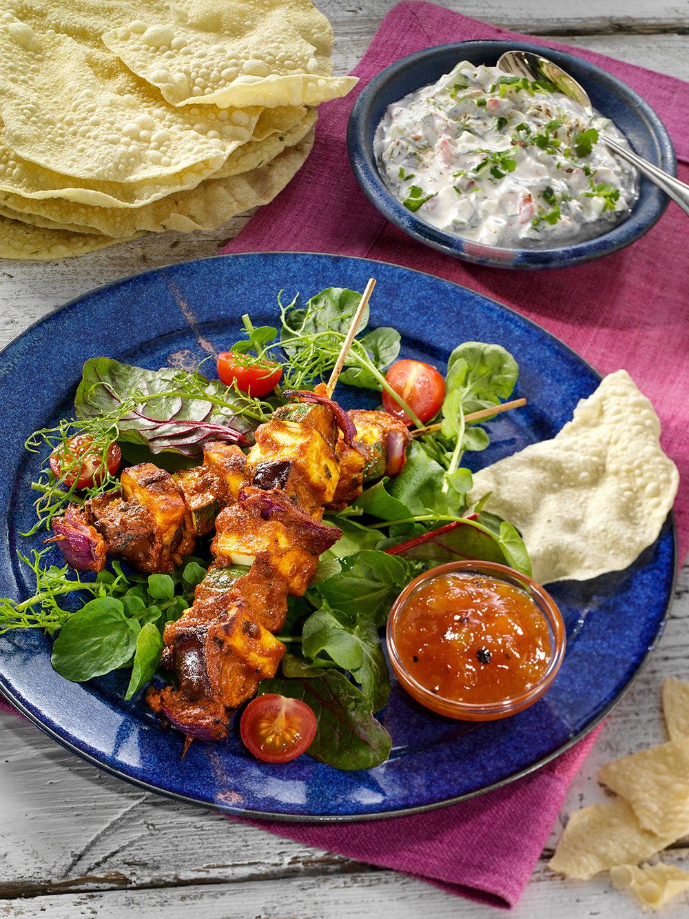 Makhani vegetarian kebabs