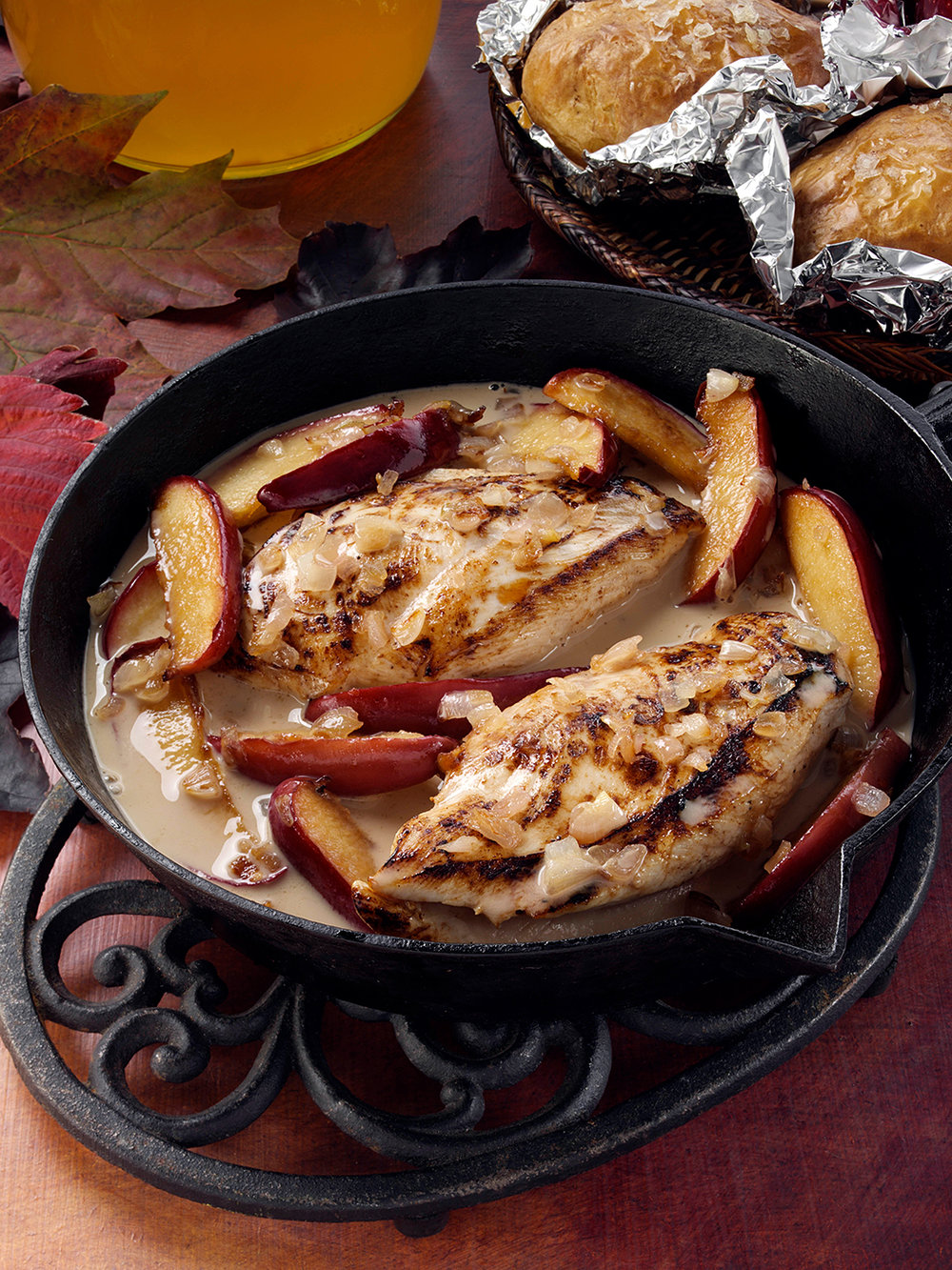 Chicken breasts in cider