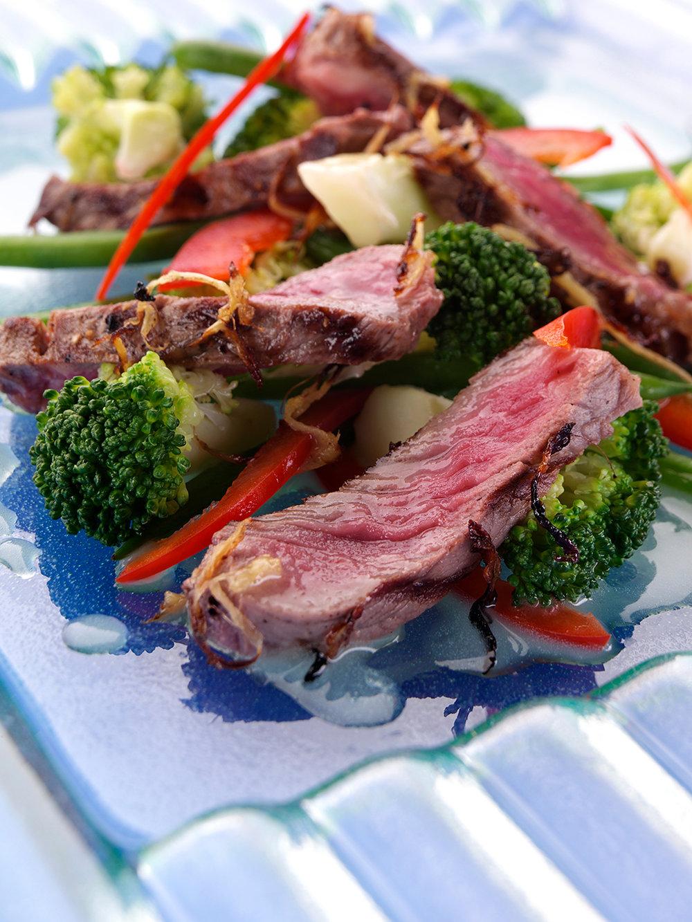 Beef vegetable salad