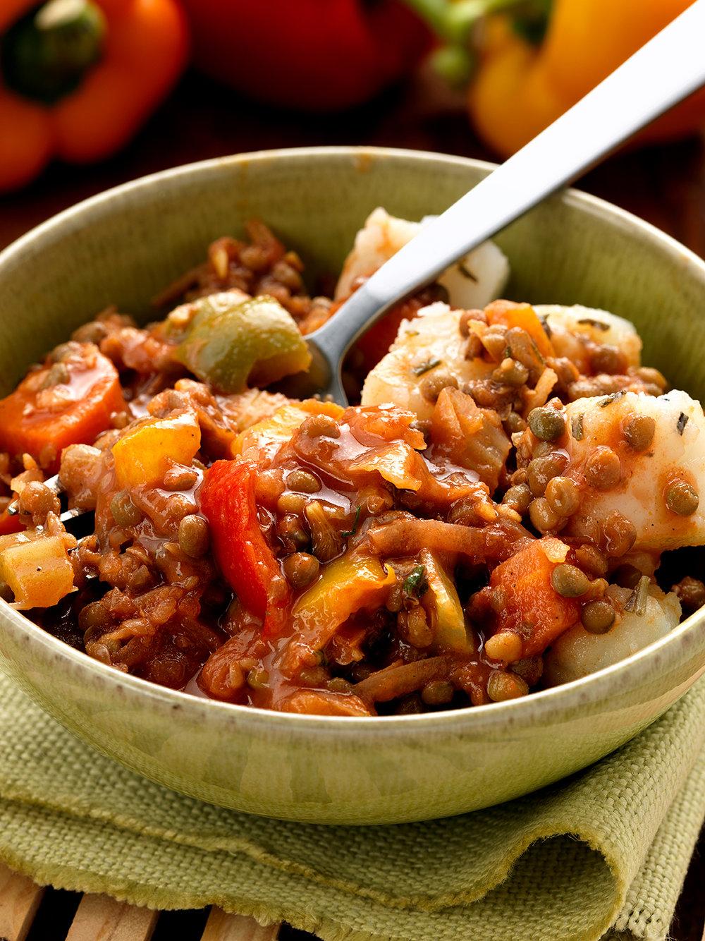 Vegan lentil dish