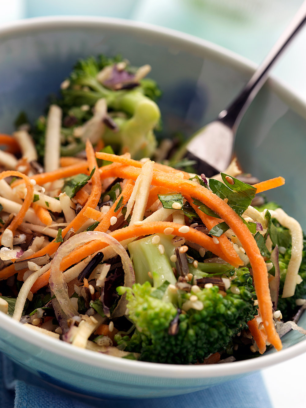 Vegan wild rice salad