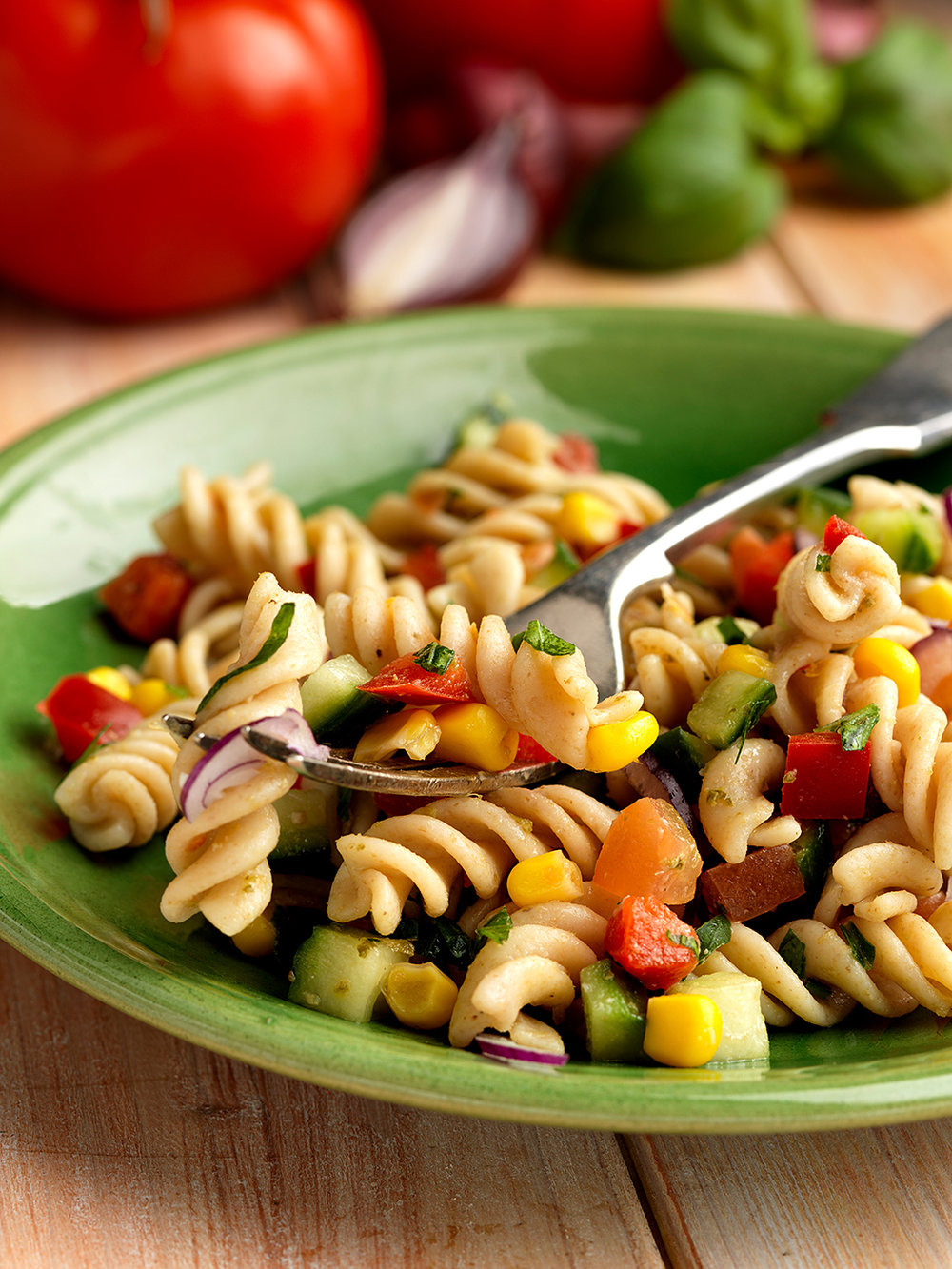Spelt pasta salad