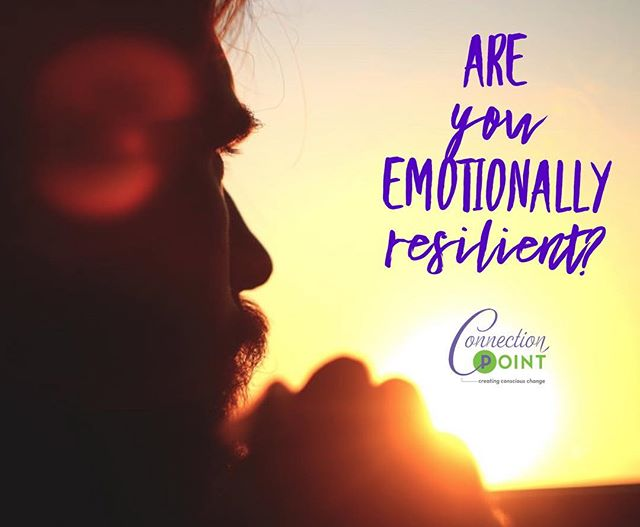 Emotional resilience is the ability to successfully cope with change or misfortune. Even when afraid, resilient people are able to respond to life's challenges with courage and emotional stamina. While we can't always control life's challenges, we can control how we respond to those challenges. #emotionalresilience #success #change #challenges #courage #creatingconsciouschange #Tampa https://www.connectionpointcoaching.com/cpc-blog/2018/4/25/are-you-emotionally-resilient